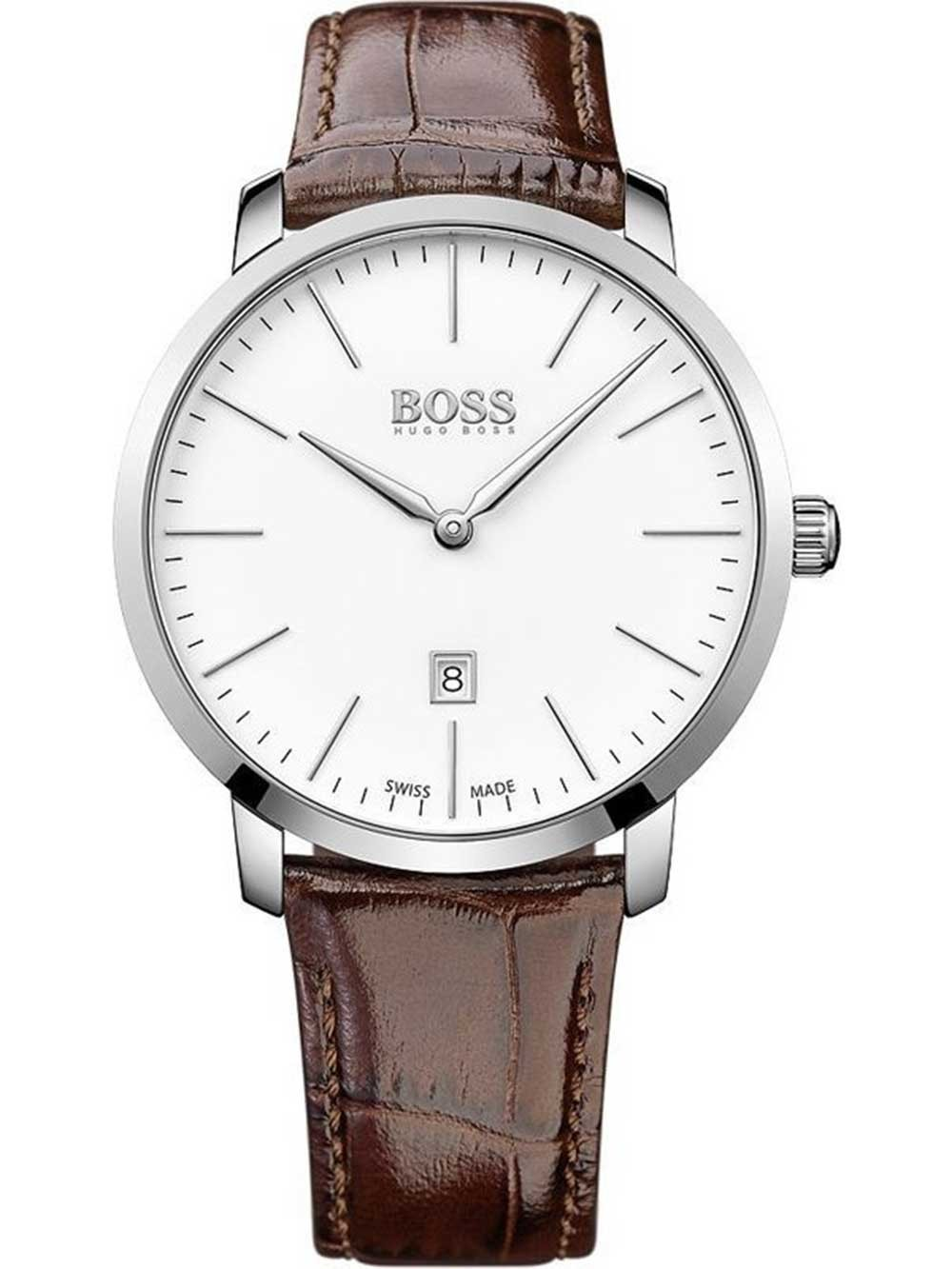 ceas barbatesc hugo boss 1513255 swiss made 42mm 3atm saphir