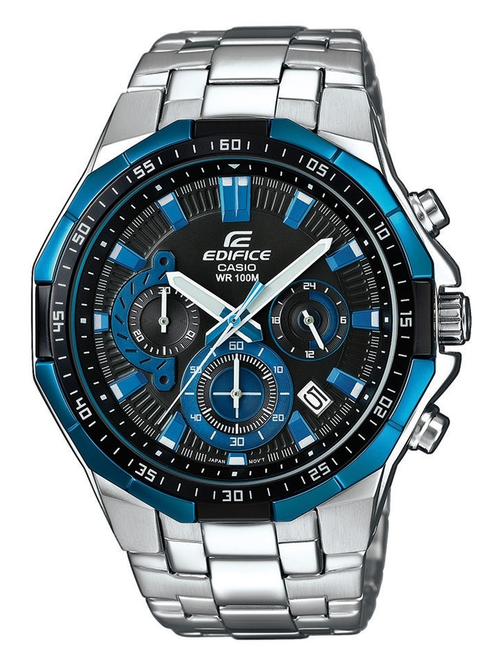 ceas barbatesc casio efr-554d-1a2vuef edifice chrono. 46mm 10atm
