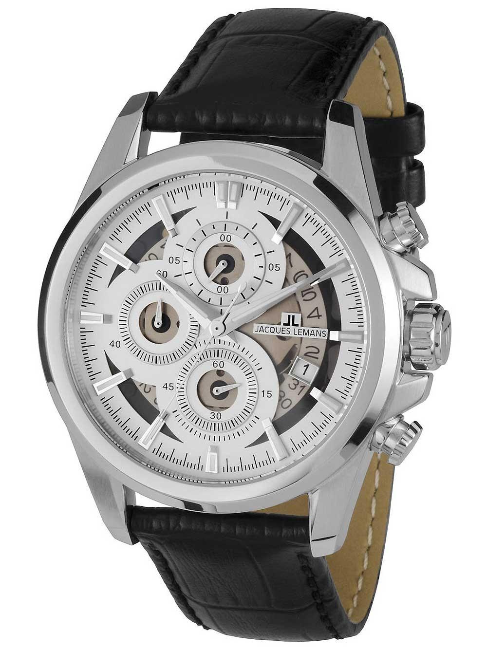 jacques lemans 1-1847b liverpool chronograph herren 44mm 10atm