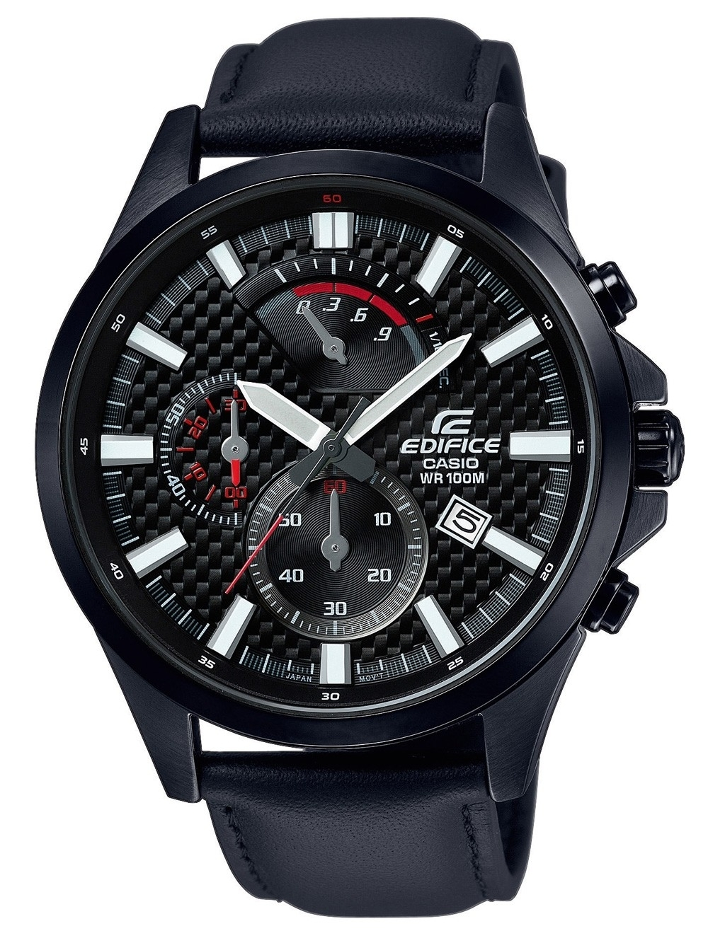 ceas barbatesc casio efv-530bl-1avuef edifice chrono.45mm 10atm