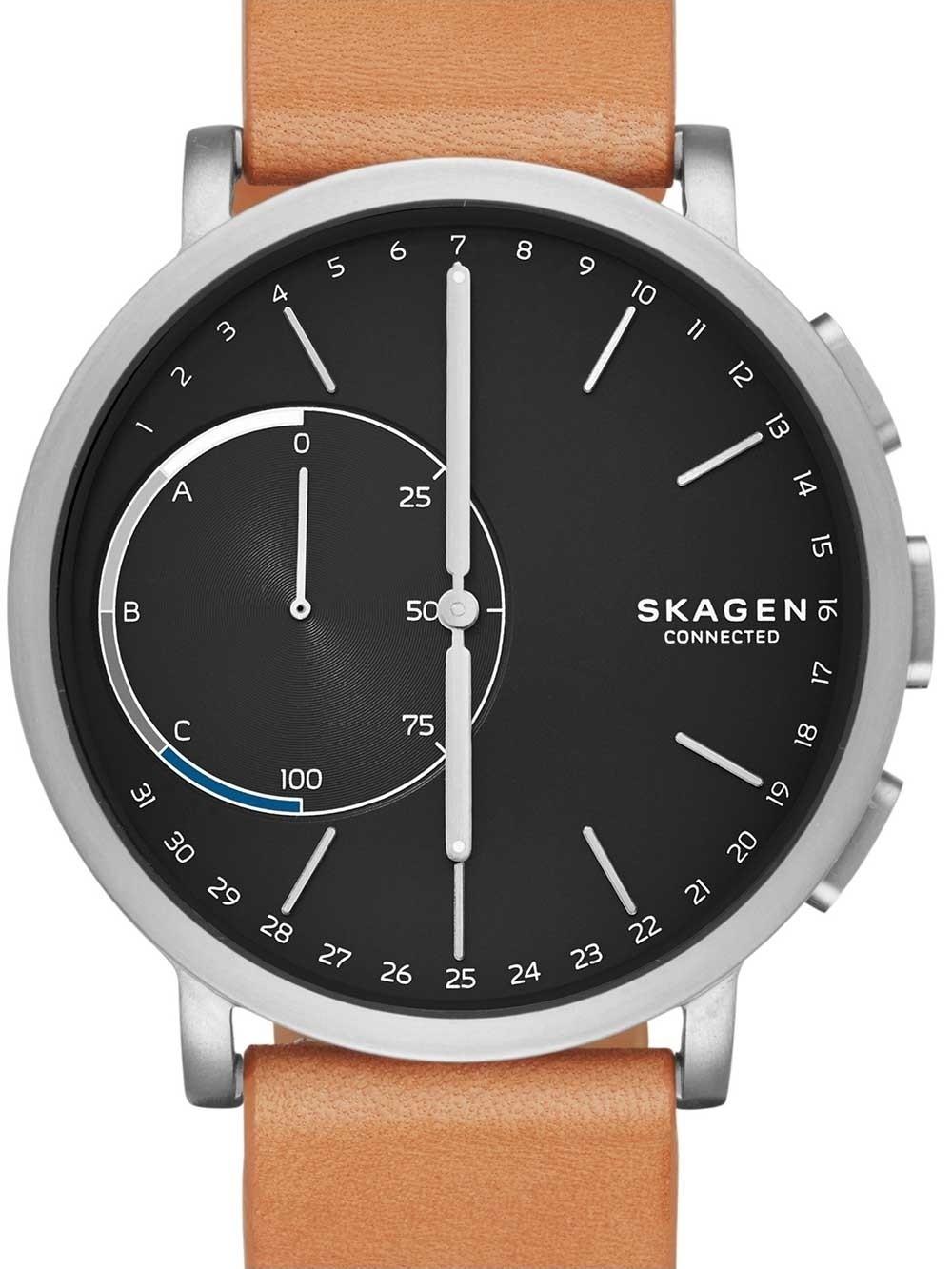 ceas unisex skagen skt1104 ca hagen titan hybrid smartwatch 42mm 3atm