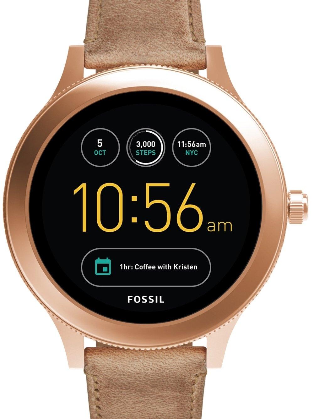 ceas de dama fossil q ftw6005 venture smartwatch 42mm