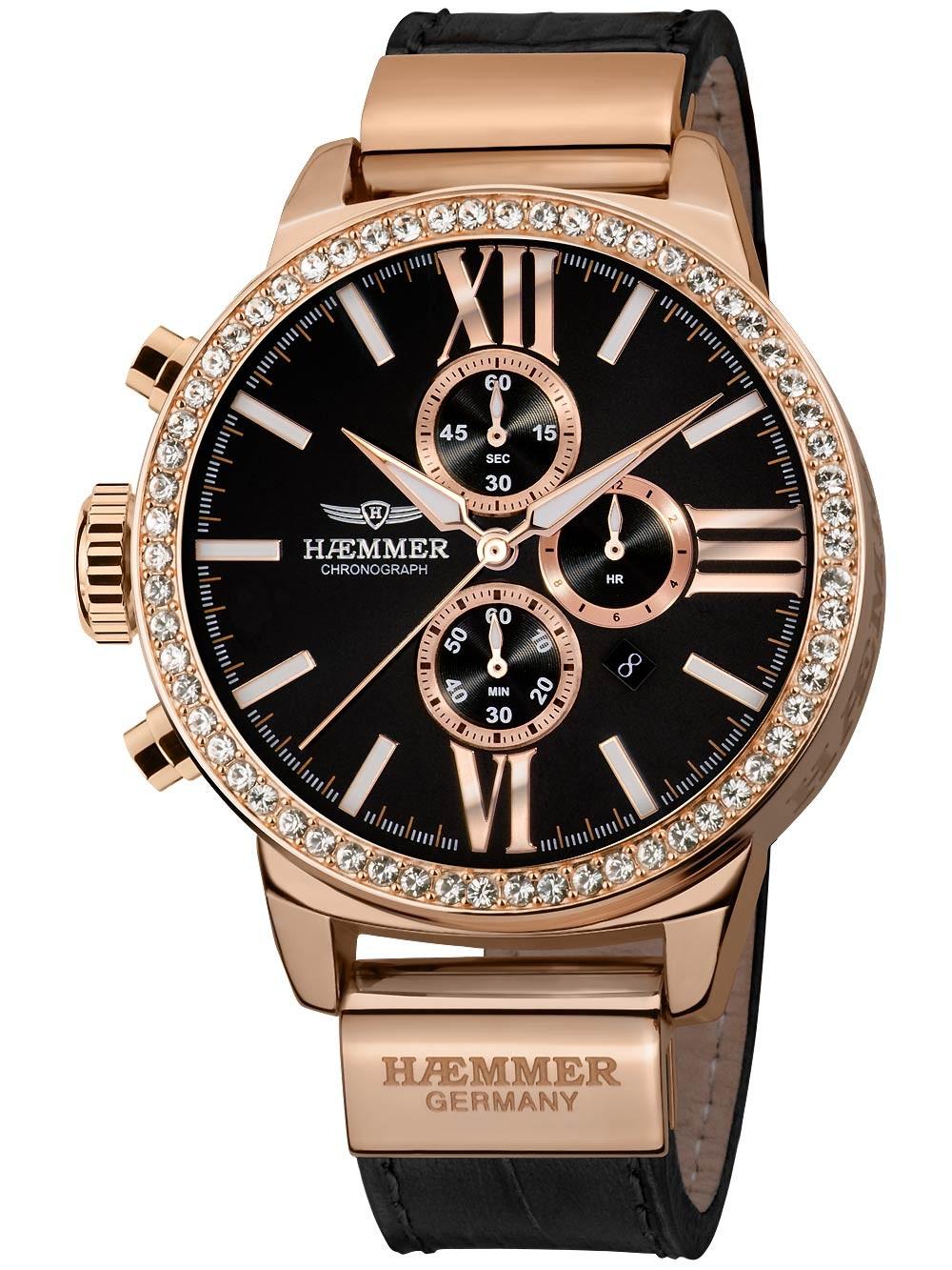 Ceas de dama Haemmer DSC-04 Romana Cronograf 45mm 10ATM