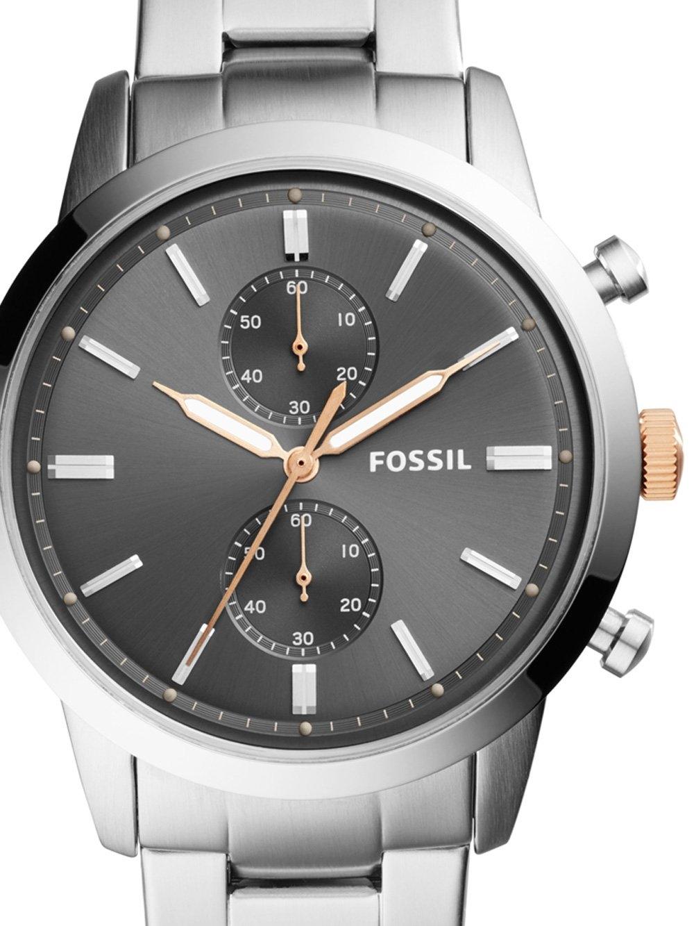 ceas barbatesc fossil fs5407 townsman 44mm 5atm