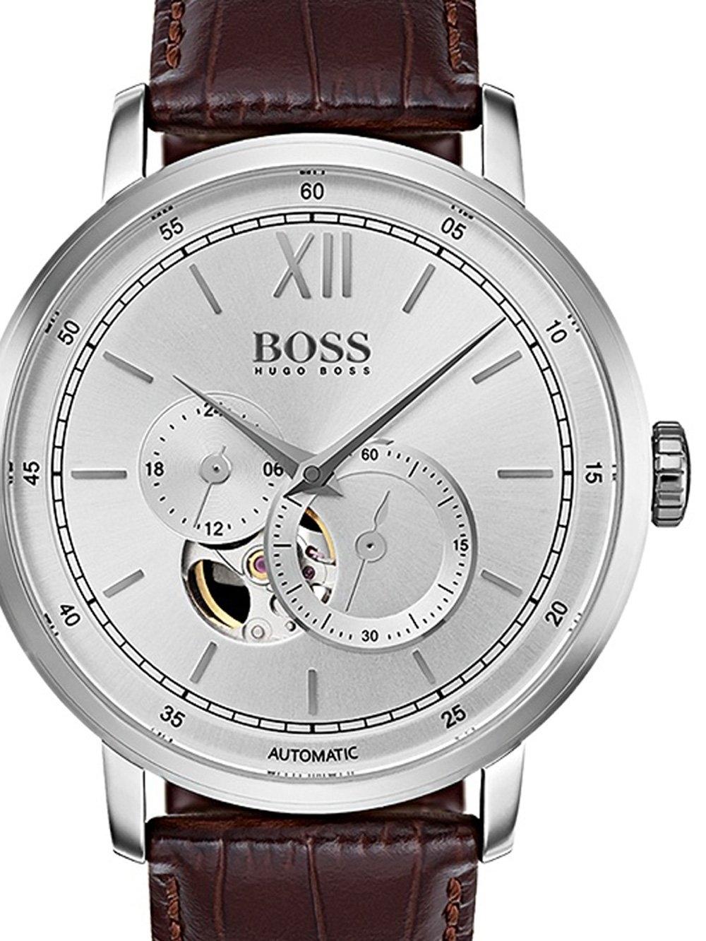 ceas barbatesc boss 1513505 signature timepiece autom. 44mm 5atm