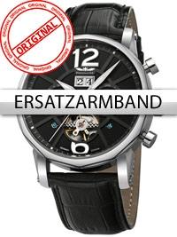 Curea de ceas Perigaum Leder P-1111 schwarz silberne Schliesse 24 mm