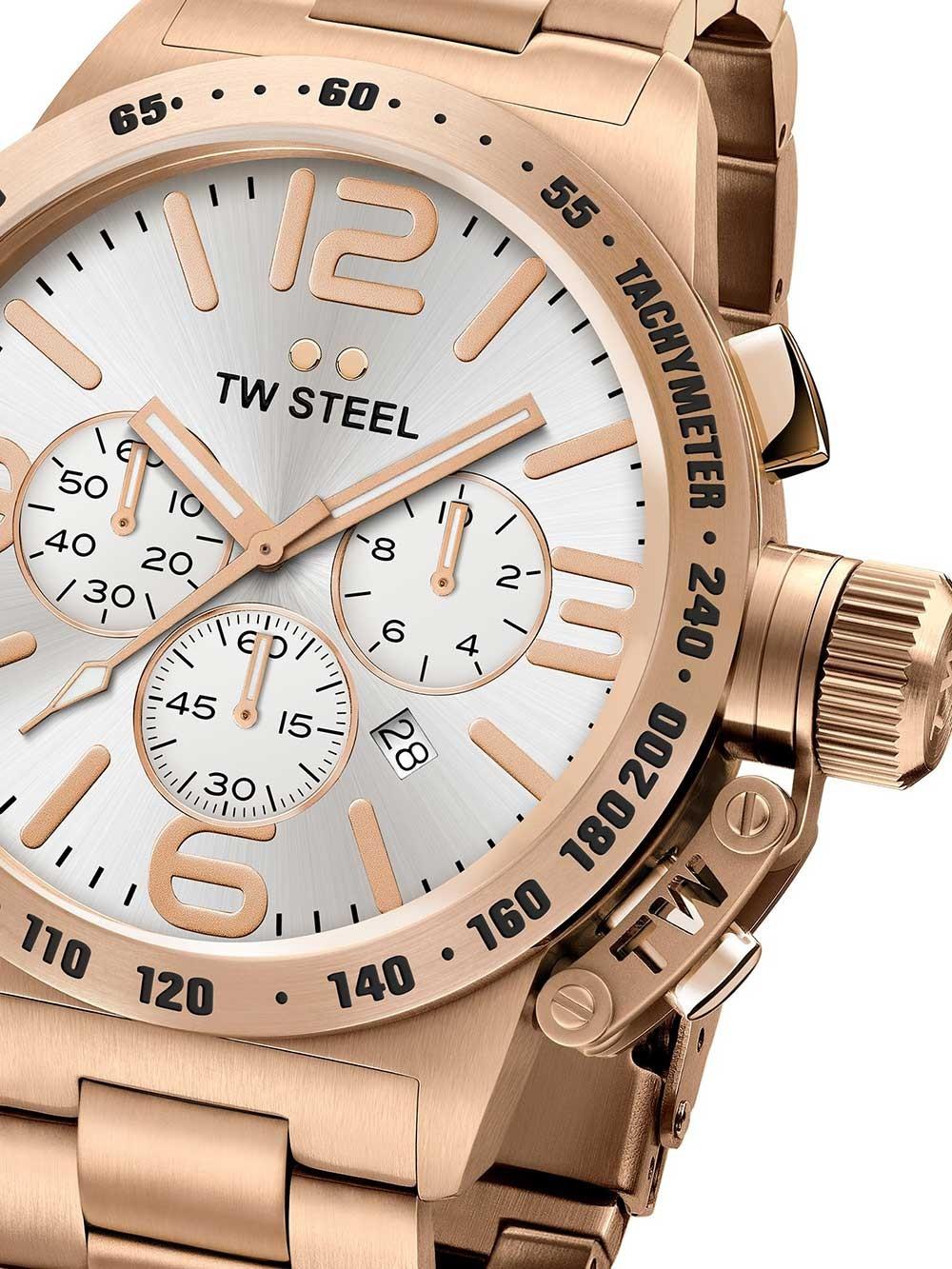 Ceas barbatesc TW-Steel CB163 Canteen Bracelet Cronograf 45mm 10ATM