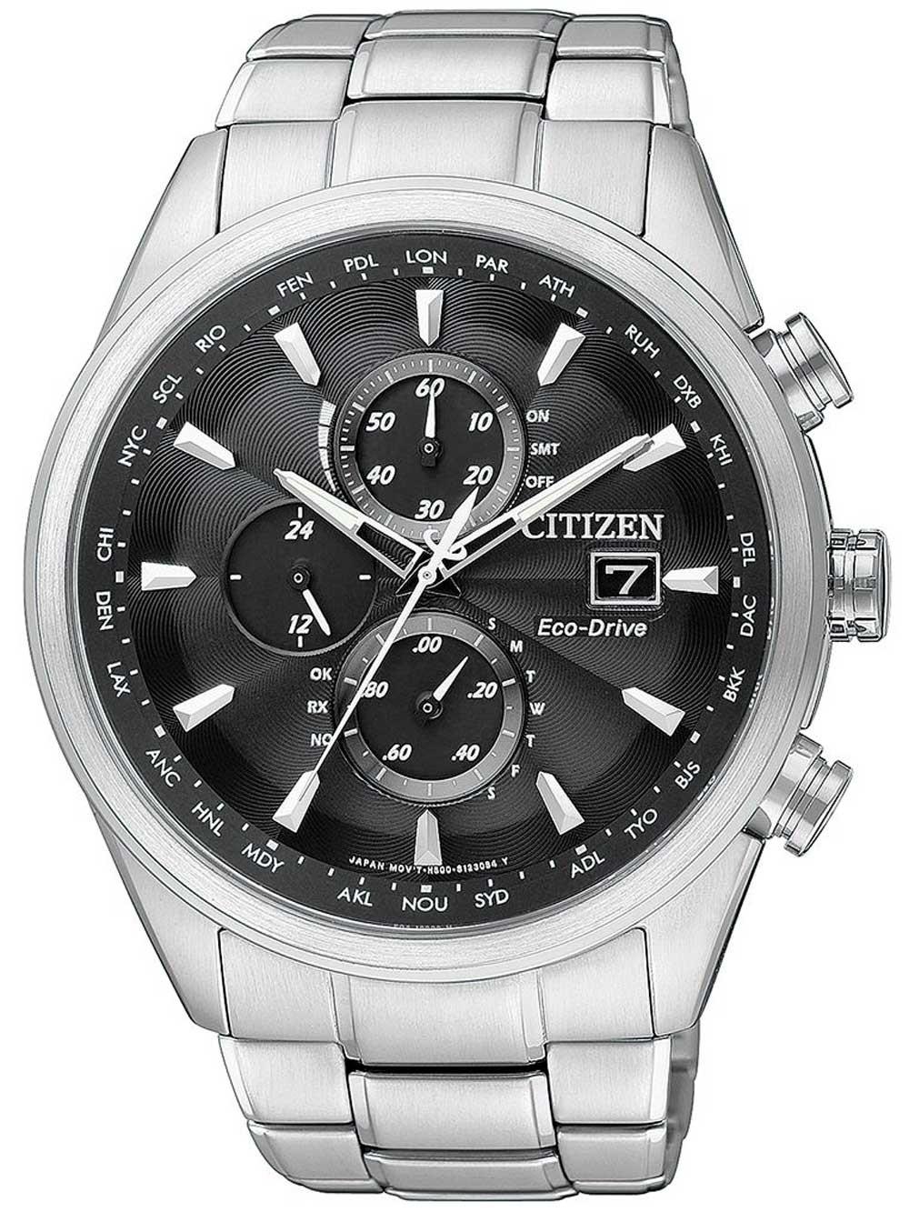 ceas barbatesc citizen eco-drive at8011-55e chrono cu functii saphir, 43 mm, 20 atm