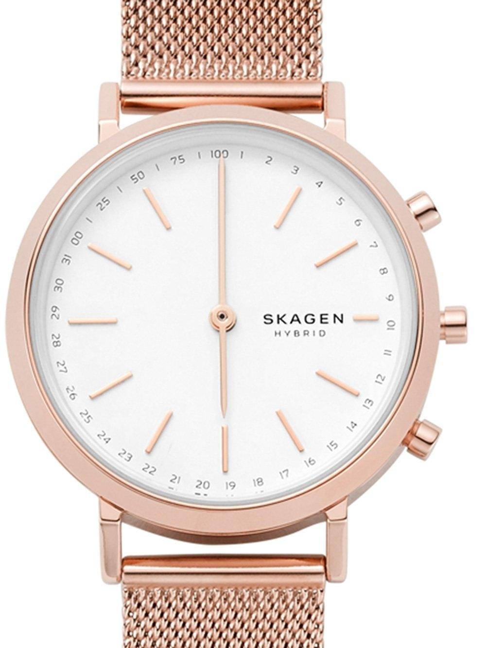 ceas de dama skagen skt1411 hald hybrid smartwatch 34mm 3atm