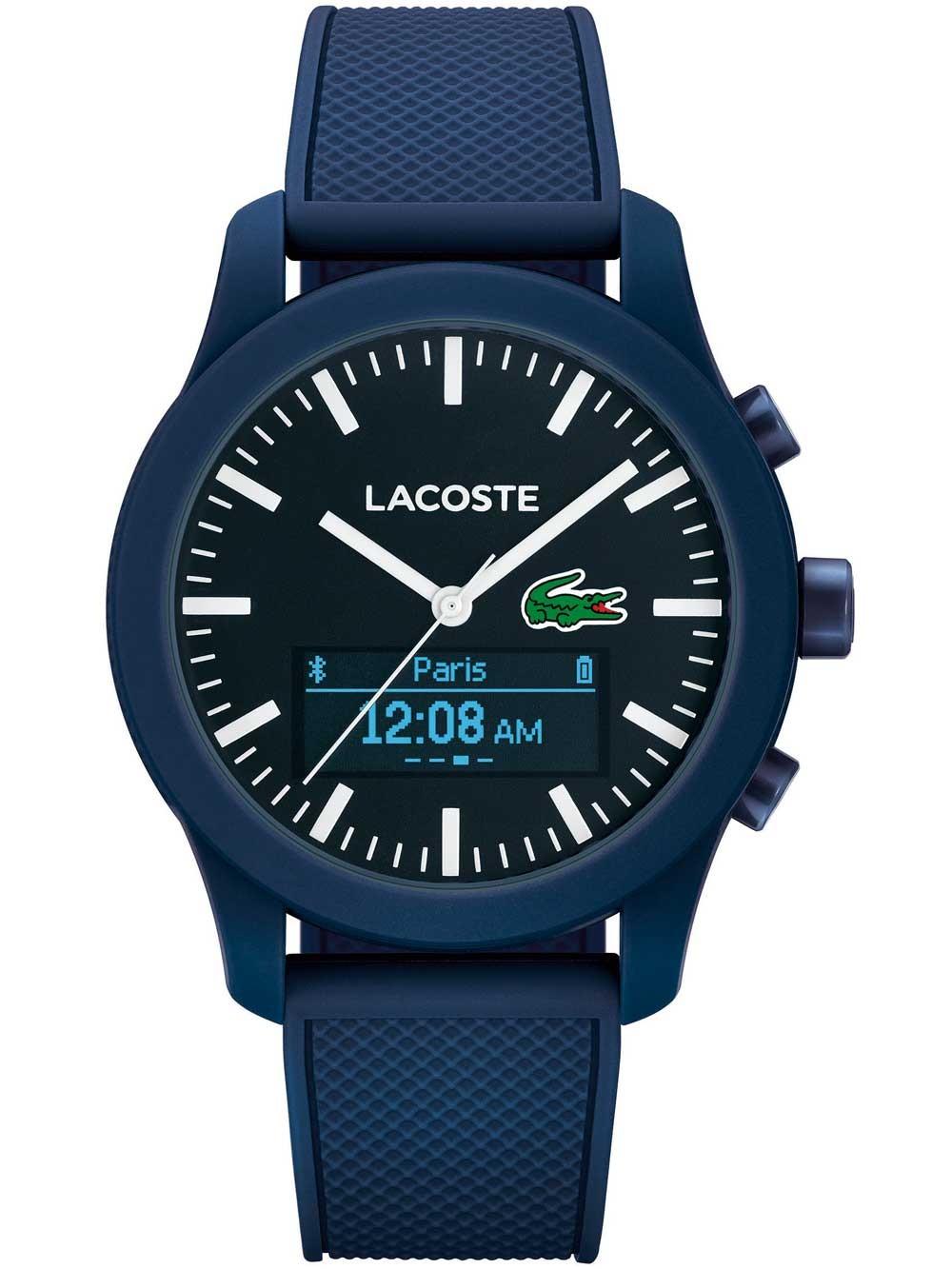 ceas barbatesc lacoste 2010882 12.12 smartwatch contact 43mm 3atm