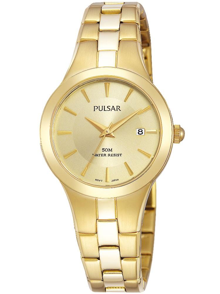 watches chrono12 pulsar ph7420x1 damenuhr 50m gold 28mm. Black Bedroom Furniture Sets. Home Design Ideas