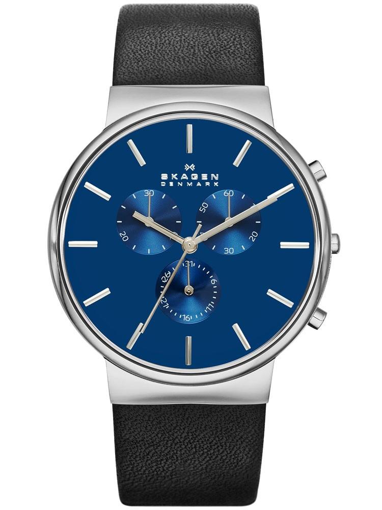 ceas barbatesc skagen ancher skw6105 cronograf 40 mm