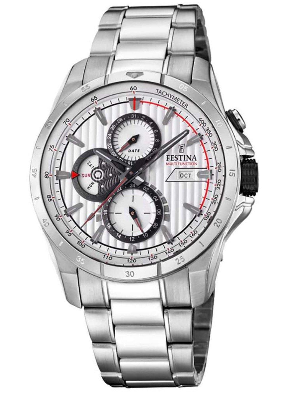 ceas barbatesc festina f16995/1 chrono 43mm 5atm