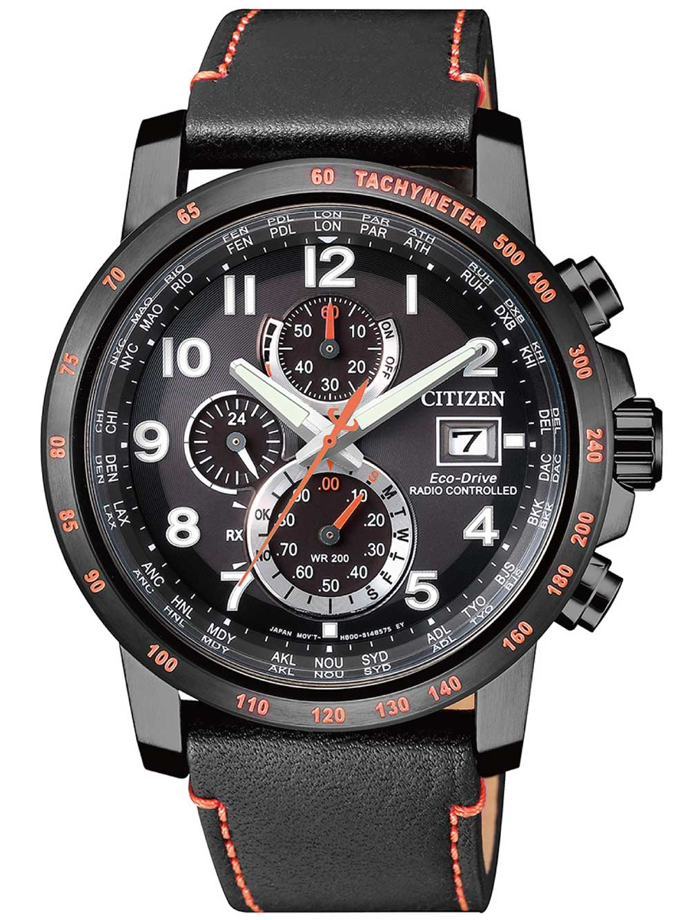 ceas barbatesc citizen at8125-05e eco-drive sport radio controlat-cronograf 43mm 20atm
