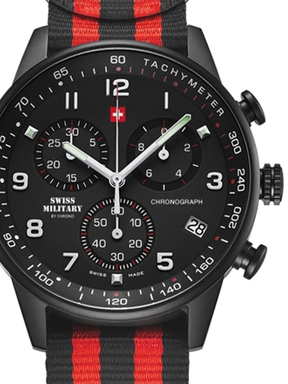 ceas barbatesc swiss military sm34012.16 chrono 41mm 5atm