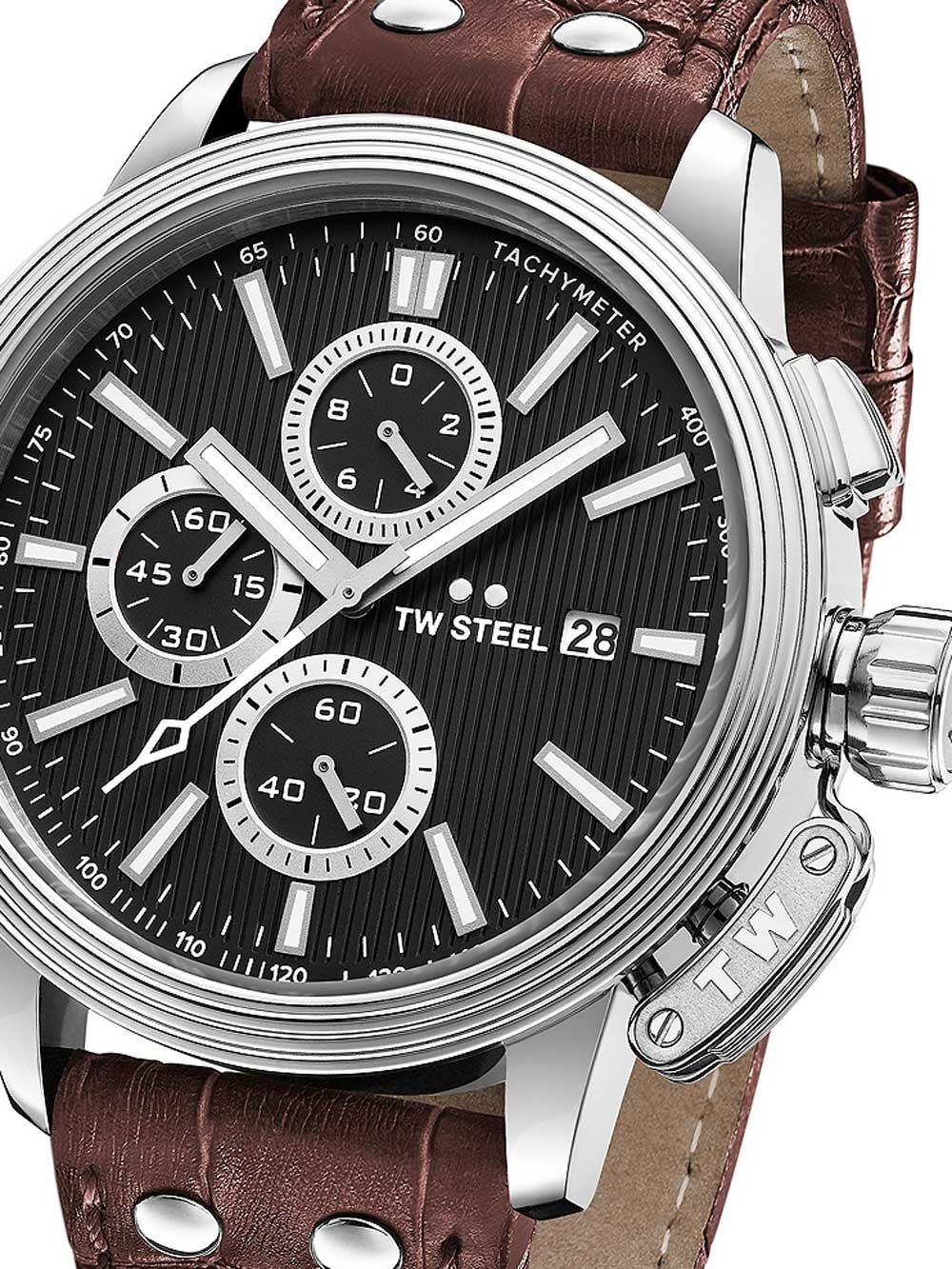 ceas barbatesc tw-steel ce7006 adesso cronograf 48mm 10atm