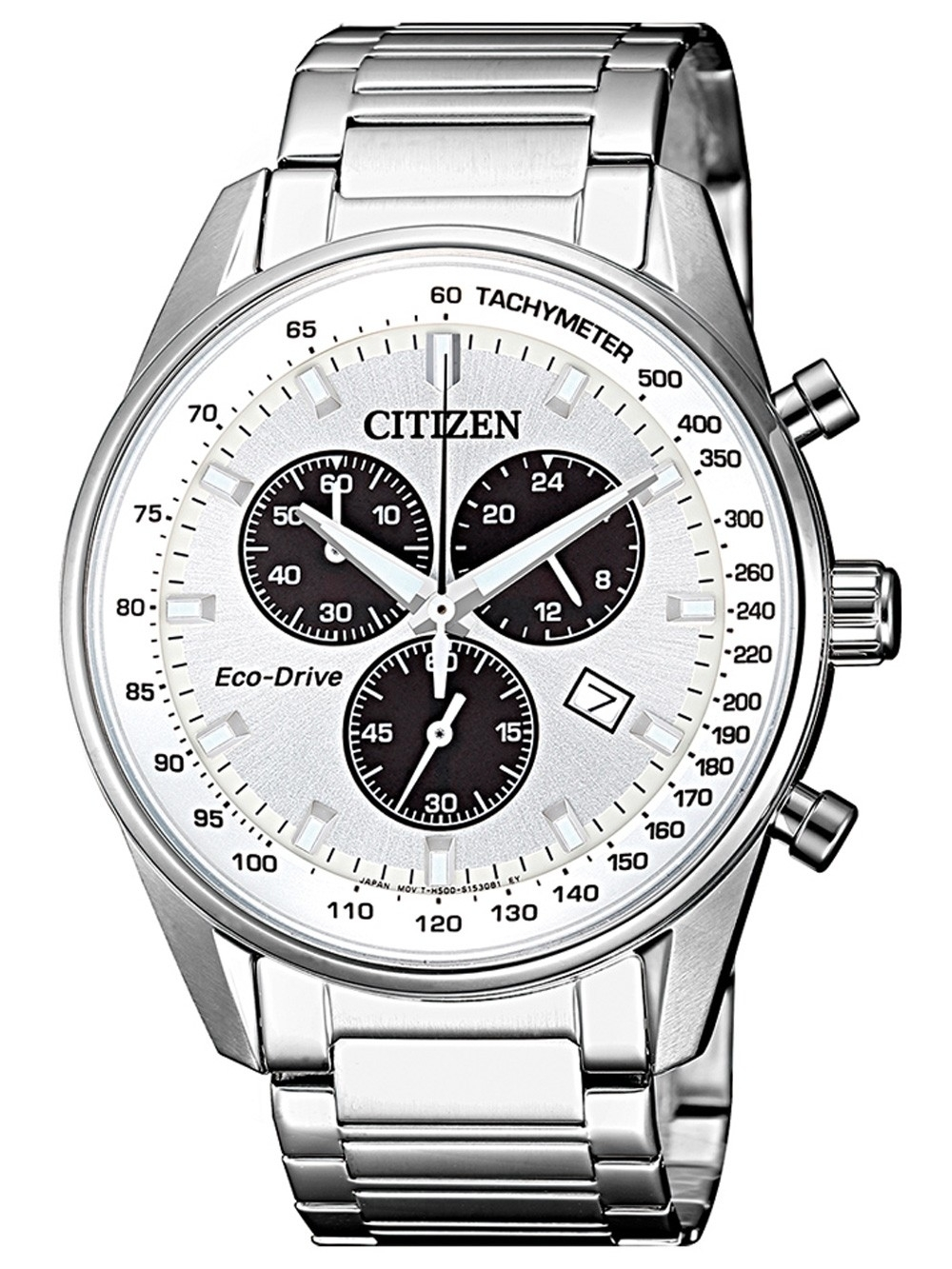 ceas barbatesc citizen at2390-82a eco-drive chrono. 40mm 10atm