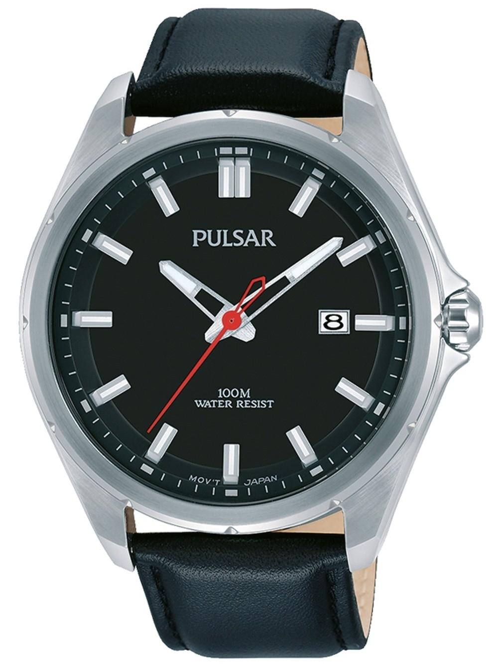ceas barbatesc pulsar ps9557x1 klassik 44mm 10atm