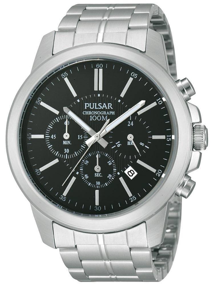 Ceas barbatesc Pulsar PT3485X1 Cronograf 44 mm 10 ATM