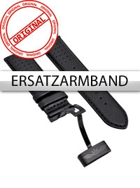 Curea de ceas Perigaum Leder P-1001 schwarz ohne Schliesse 24 mm