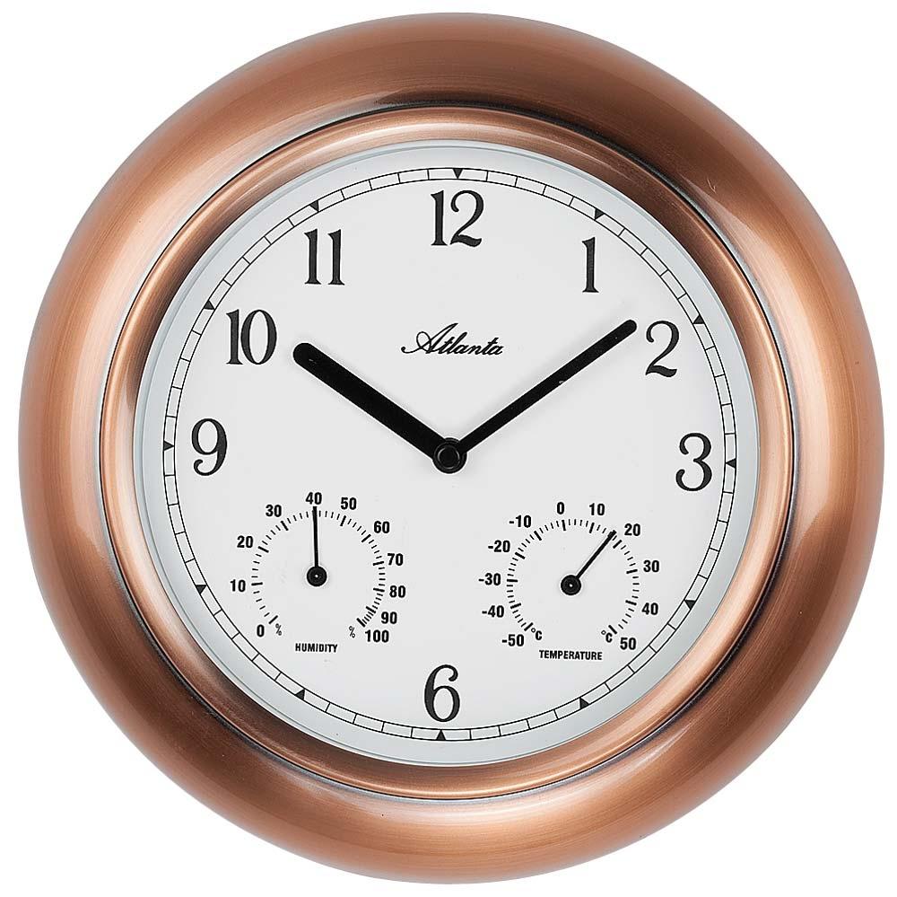 ceas de perete atlanta 4446 termometru si hidrometru