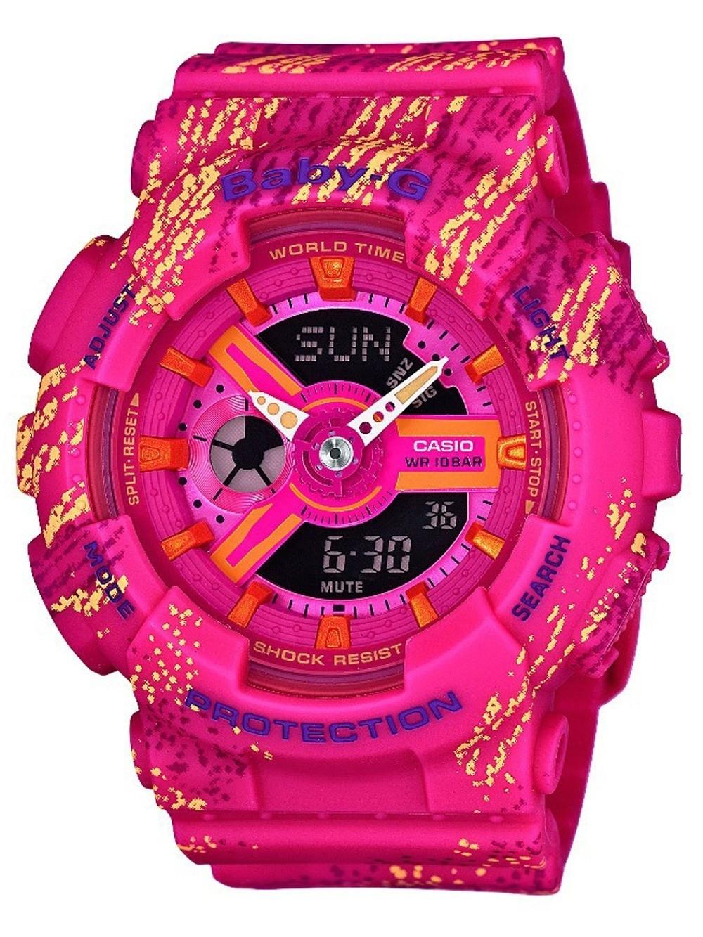ceas de dama casio ba-110tx-4aer baby-g 43mm 20atm