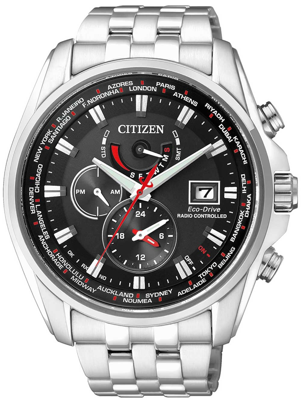 ceas barbatesc citizen at9030-55e eco-drive sport radio controlat-cronograf 44mm 20atm