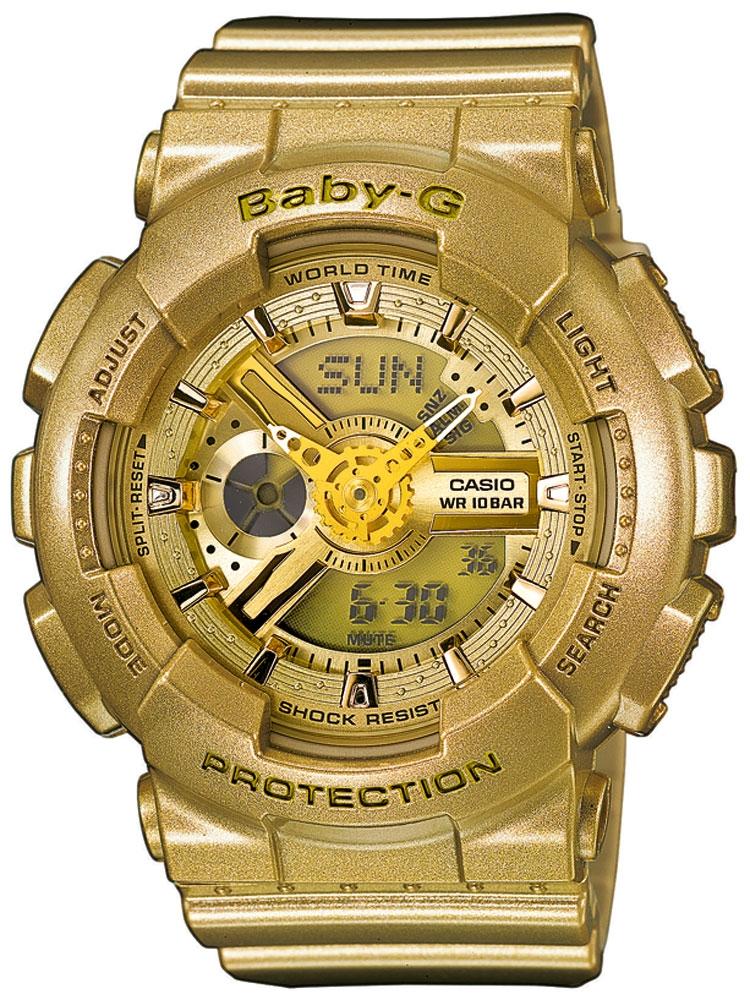 ceas de dama casio ba-111-9aer baby-g cronograf 10 atm 43 mm
