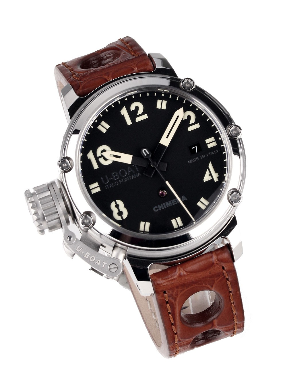 ceas barbatesc u-boat 7226 chimera steel 43mm 10atm