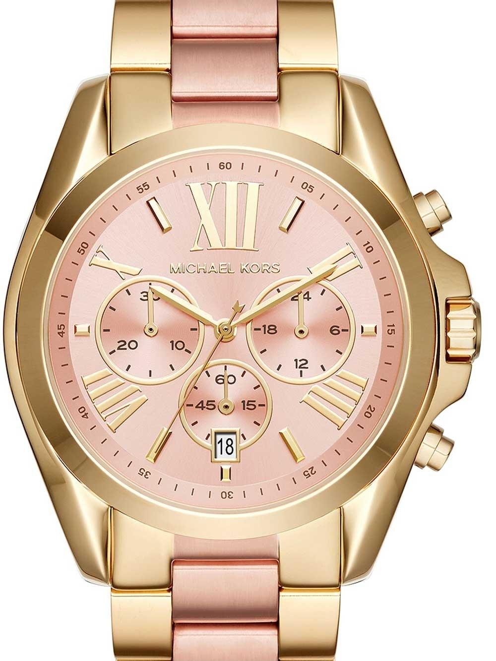 ceas de dama michael kors mk6359 bradshaw chrono 40mm 10atm