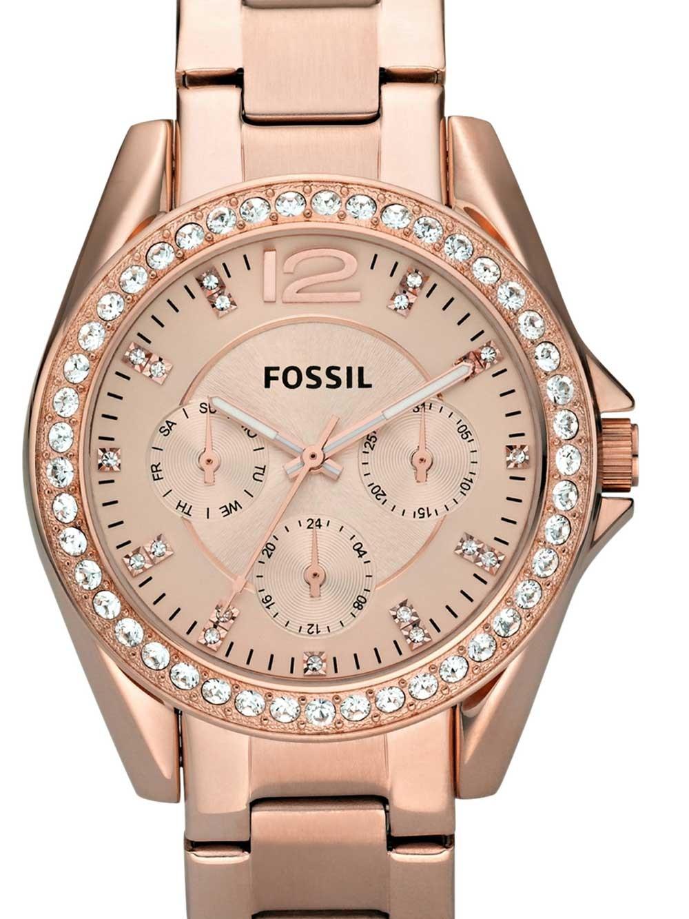 watches chrono12 fossil es2811 riley damen 38mm 10atm. Black Bedroom Furniture Sets. Home Design Ideas