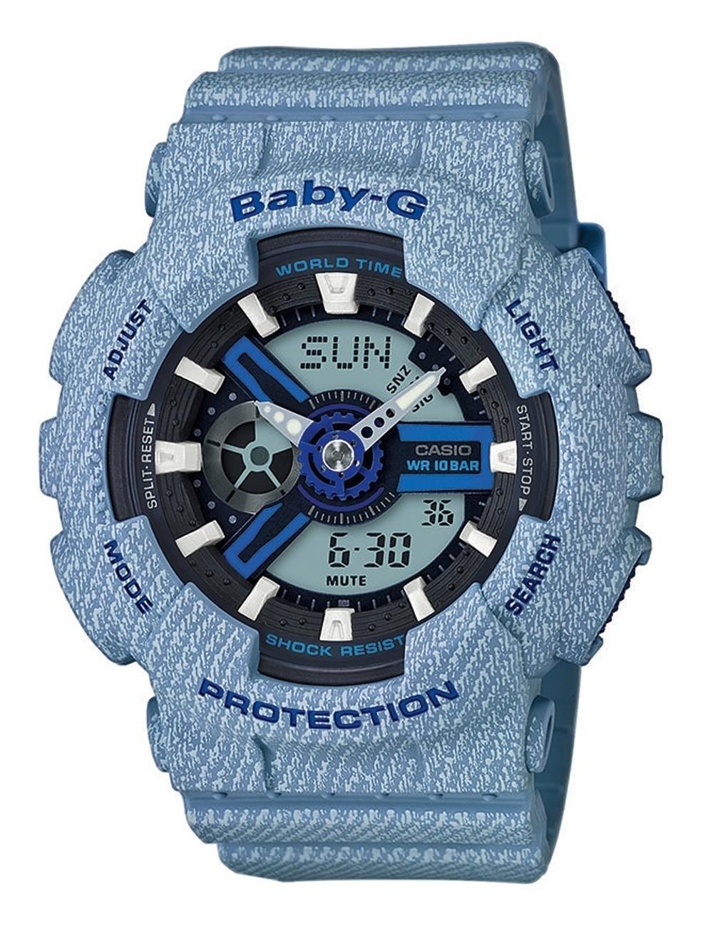 ceas de dama casio ba-110de-2a2er baby-g 43mm 20atm