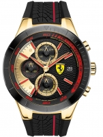 Ceas: Ceas barbatesc Scuderia Ferrari 0830298 Red Red Evo Cronograf 46mm 5ATM