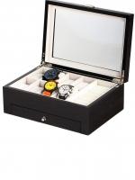 Ceas: Rothenschild Uhren- & Schmuckbox RS-2271-GI für 8 Uhren ginko