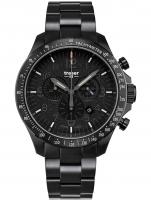 Ceas: Ceas barbatesc Traser H3 109466 P67 Officer Cronograf Black Steel 46mm 10ATM