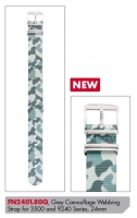 Ceas: Curea de schimb Luminox Textil  FN2401.80Q [24 mm] Camouflage
