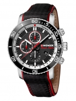 Ceas: Ceas barbatesc Wenger 01.1843.105 Roadster Black Night Chrono. 45mm 10ATM