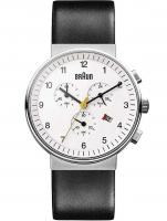 Ceas: Ceas barbatesc Braun BN0035WHBKG Cronograf 40mm 5ATM