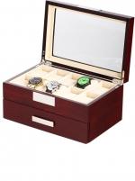 Ceas: Cutie Lemn Cires Rothenschild RS-2350-20C Pentru 20 Ceasuri