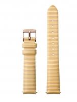 Ceas: Cluse Ersatzband CLS362 [16 mm] gelb-weiß m. rosé Schließe