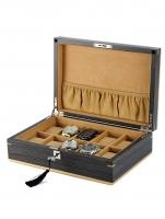 Ceas: Cutie ceasuri Rothenschild Ginko Lemn Natural  RS-2320-10G Pentru 10 Ceasuri