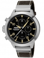Ceas: Ceas barbatesc Haemmer HF-03C Prudent Cronograf 50mm 10ATM
