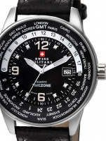 Ceas: Ceas barbatesc Swiss Military SM34007.03 GMT-Worldtimer 41mm 5ATM