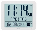 Ceas: AMS 5886 Wanduhr modern Funkwanduhr digitale Wanduhr Wetterstation - Serie: AMS Design