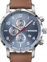 Ceas: Ceas barbatesc Wenger 01.1543.114 Attitude Cronograf 44mm 10ATM