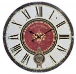 Ceas: Antique HOME 14181 Wanduhr klassisch Vintage-Wanduhr Antik-Optik XXL-Uhr mit Pendel