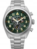 Ceas: Citizen AT2480-81X Eco-Drive Super-Titanium chronograph 43mm 10ATM