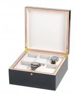 Ceas: Cutie Lemn Rothenschild Ceasuri & Bijuterii  RS-5598-6 Pentru 6 Ceasuri Carbon - Gri