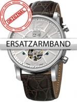 Ceas: Curea de ceas Perigaum Leder P-1111 braun silberne Schliesse 24 mm