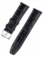 Ceas: Curea de ceas Rothenschild mid-17756 universal 22mm schwarz, silberne Schließe